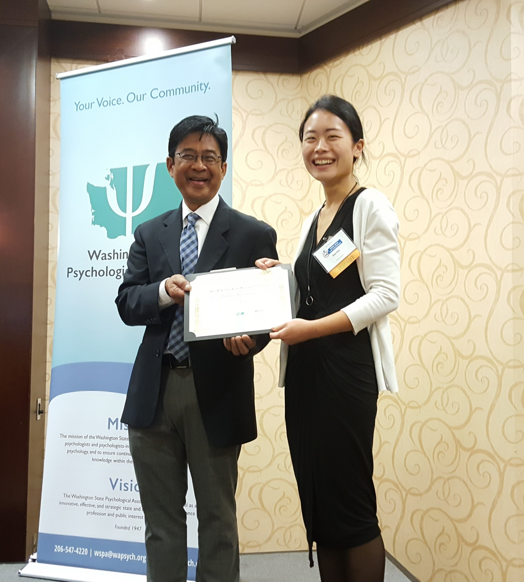 Soo Kim is the 2018 Poster Session winner.