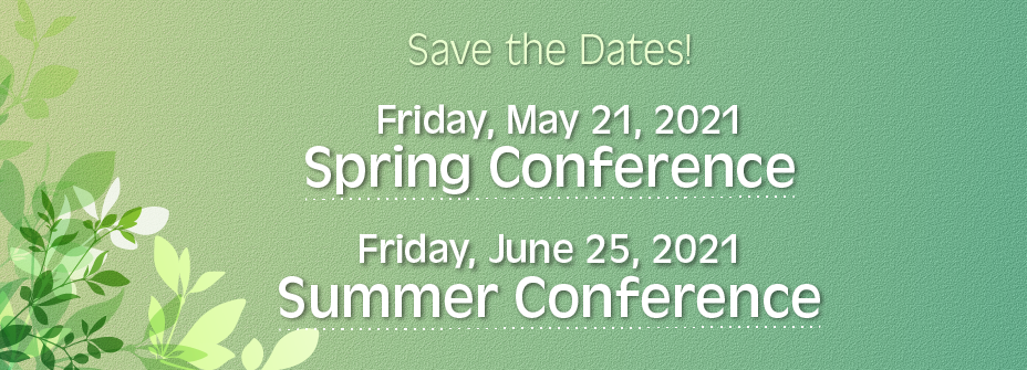 Join us at our 2021 conferences.